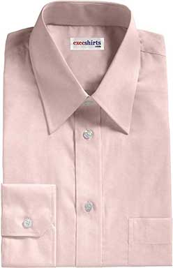Pink Egyptian Cotton Pinpoint Dress Shirts