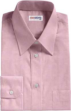 Red Egyptian Cotton Pinpoint Dress Shirts