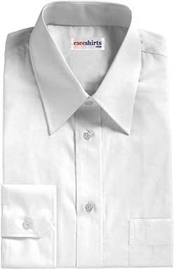 White Egyptian Cotton Pinpoint Dress Shirt