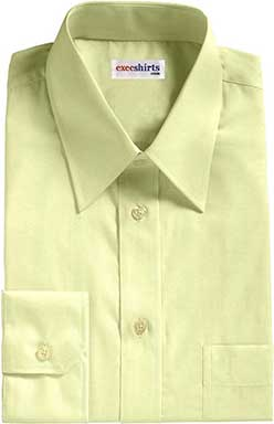 Yellow Egyptian Cotton Broadcloth Dress Shirt