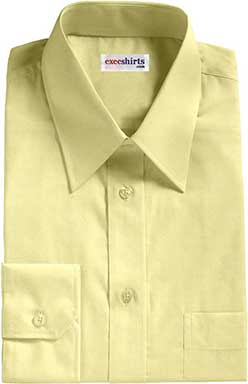 Yellow Egyptian Cotton Pinpoint Dress Shirts