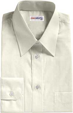 Off White Egyptian Cotton Pinpoint Dress Shirt