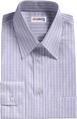 Blue/Blue Striped Egyptian Cotton Shirts