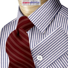 Blue/Lt. Blue Striped Egyptian Cotton Shirts