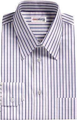 Blue Striped Egyptian Cotton Shirt 1