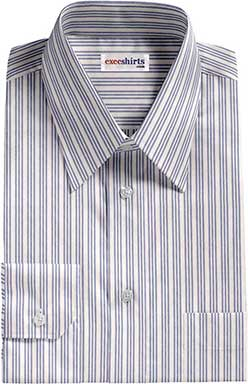 Striped Blue Egyptian Cotton Shirt 2