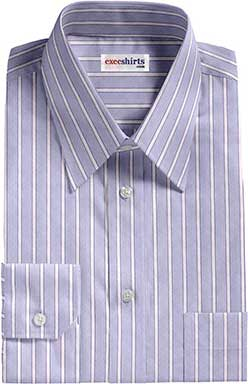 Blue Striped Egyptian Cotton Shirts 3