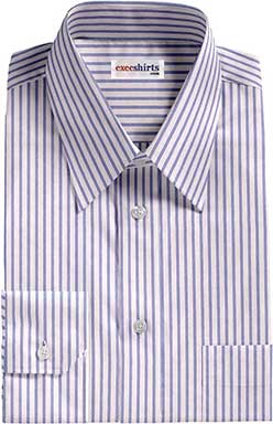 Lt. Blue Striped Egyptian Cotton Shirts