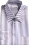Lt. Blue Striped Egyptian Cotton Shirt