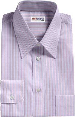 Purple/Blue Striped Egyptian Cotton Shirts