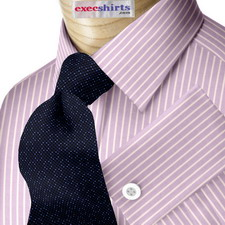 Purple Striped Egyptian Cotton Shirts
