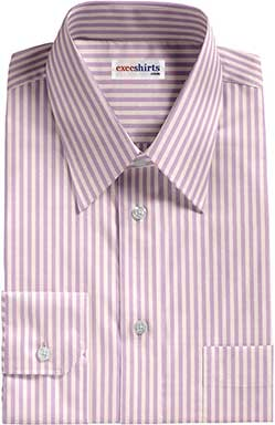 Purple/White Striped Egyptian Cotton Shirts
