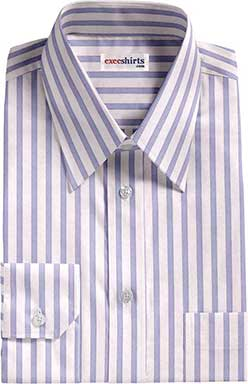White/Blue Striped Egyptian Cotton Shirts