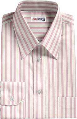 White/Pink Striped Egyptian Cotton Shirts