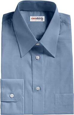 French Blue Broadcloth Dress Shirts