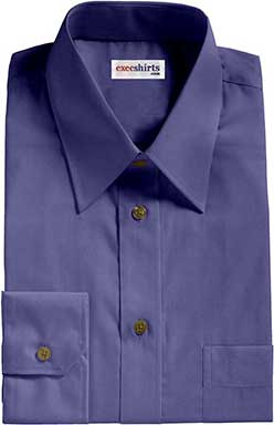 French Blue Broadcloth 2 Dress Shirts