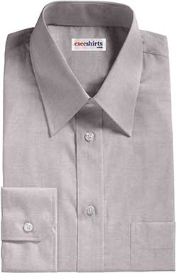Grey Pinpoint Dress Shirt