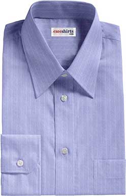 Blue Herringbone Dress Shirts
