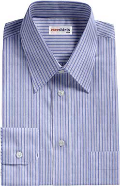 Herringbone Broadcloth Blue Dress Shirts 2