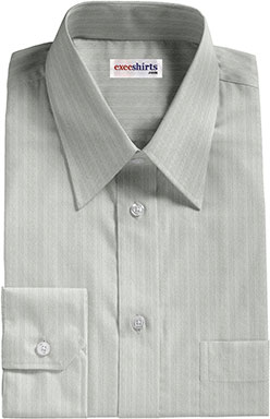 Gray Herringbone Dress Shirt