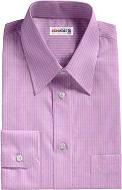 Purple Herringbone Dress Shirt