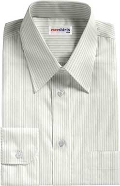White Herringbone Dress Shirt 2