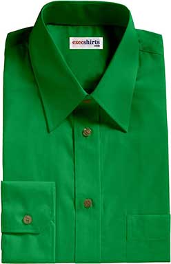 Kelly Green Broadcloth Dress Shirt