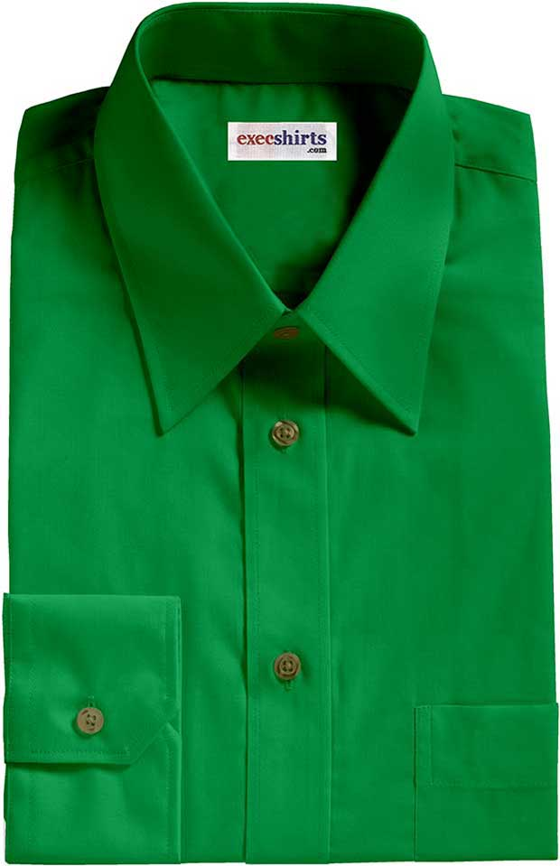 Kelly green broadcloth dress shirt execshirts Emerald green mens dress shirt