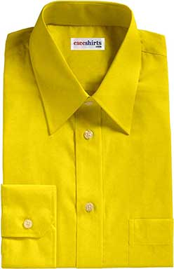 Lemon Yellow Broadcloth Dress Shirt