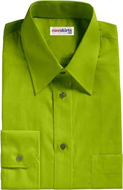 Lime Oxford Dress Shirt
