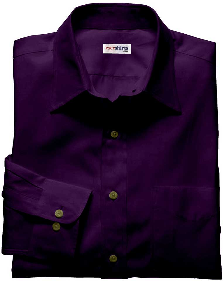 Dark Purple Linen Shirt