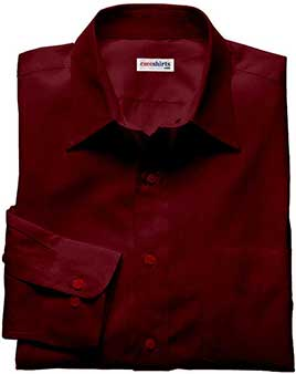 Dark Red Linen Shirt
