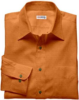 Orange Brown Linen Shirt
