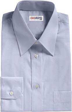 Lt. Blue Broadcloth Dress Shirts