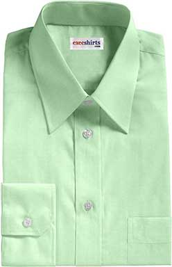 Light Green Broadcloth Dress Shirt