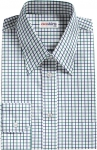 Blue/Green Checked Dress Shirt