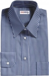Dark Blue Shirt With White Stripes