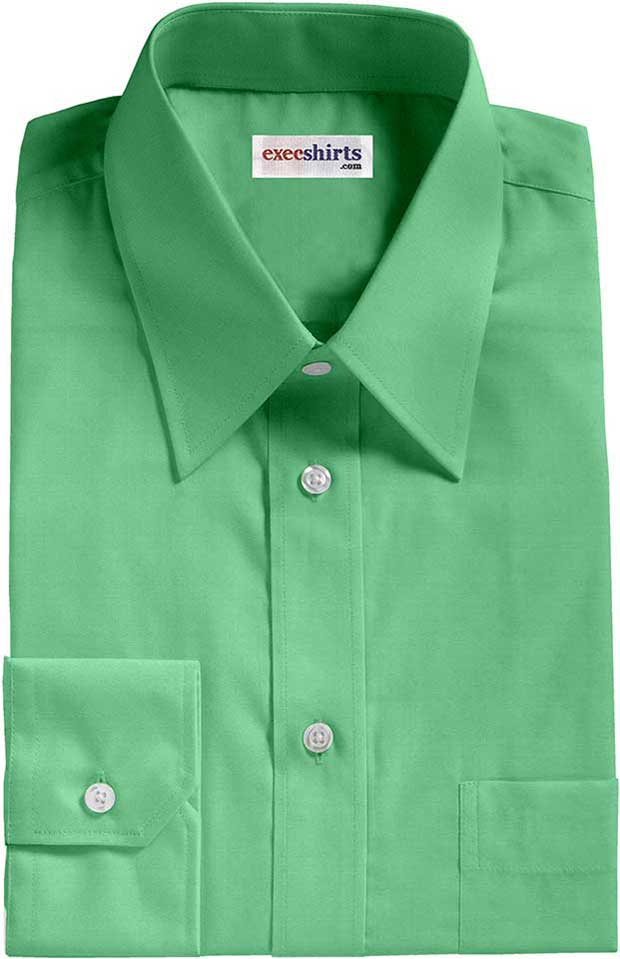 Mint Broadcloth Dress Shirt