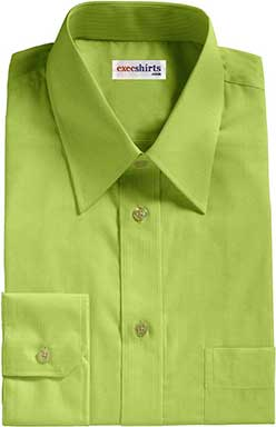 Mustard-Gold Birdeye Pinpoint Dress Shirts With Neck Tie
