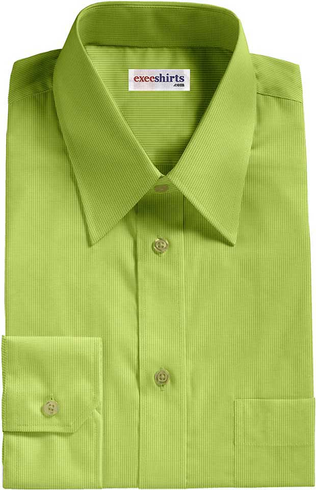 Mustard-Gold Birdeye Pinpoint Dress Shirt