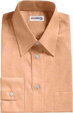 Orange Oxford Dress Shirt