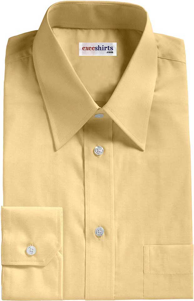 Peach Broadcloth Dress Shirt