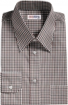 Brown-Black Checked Dress Shirt