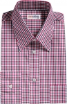 Red-Navy Checked Dress Shirt