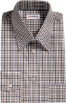 Brown-Navy Checked Dress Shirt