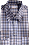 Brown-Blue Checked Dress Shirt