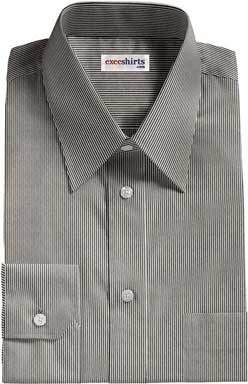 Black Narrow Pinstripe Dress Shirt