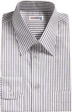 Blue Pinstripe Dress Shirt