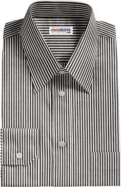 Black Deluxe Pinstripe Dress Shirt