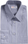 Blue Pinstripe Deluxe Dress Shirt